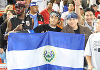 Fans of D.C. United from El Salvador during an MLS match against the New England Revolution on April 3 2010, at RFK Stadium in Washington D.C.