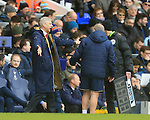 Arsenal's Arsene Wenger remonstrates with fifth official<br /> <br /> - English Premier League - Tottenham Hotspur vs Arsenal  - White Hart Lane - London - England - 5th March 2016 - Pic David Klein/Sportimage
