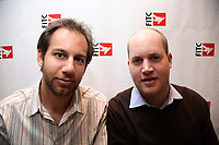 Toronto (ON) CANADA, April 24,2007<br /> <br /> Greg<br /> Goodfried and Miles Beckett who created LonelyGirl15<br /> make a presentation at<br /> THE FITC DESIGN & TECHNOLOGY FESTIVAL<br />  in  TORONTO, April 24,2007.<br /> <br /> photo by Neil Burstyn - Images Distribution
