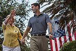 Republican Vice Presidential candidate Paul Ryan arrives with his mother, Betty Douglas, at a campaign rally on Saturday, August 18, 2012 in The Villages, FL.