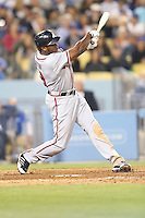 06/06/13 Los Angeles, CA: Atlanta Braves left fielder Justin Upton #8 during an MLB game played between the Los Angeles Dodgers and the Atlanta Braves at Dodger Stadium. The Dodgers defeated the Braves 5-0.