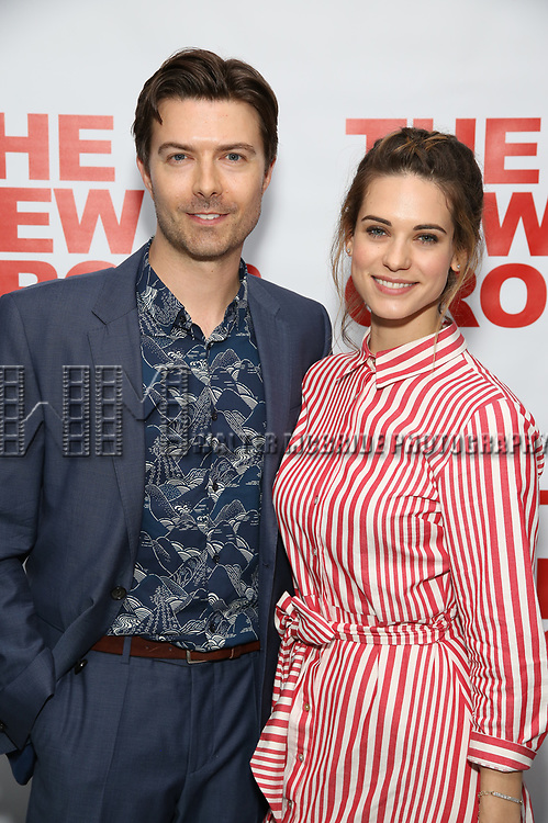Noah Bean and Lyndsy Fonseca attends the World Premiere of Hamish Linklater's 'The Whirligig' at Green Fig's Social Drink and Food Club Terrace on May 21, 2017 in New York City.