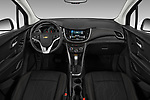 Stock photo of straight dashboard view of a 2018 Chevrolet Trax LT 5 Door SUV
