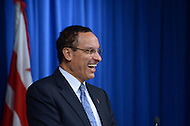 September 26, 2013  (Washington, DC)  D.C. Mayor Vincent C. Gray shares a laugh with the news media during a news conference announcing his choice for CFO.  (Photo by Don Baxter/Media Images International)