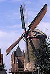 Europe, DEU, Germany, Northrhine Westphalia, Lower Rhine, Xanten, Windmill, Kriemhildmuehle, in the background the Klever Tor....[ For each utilisation of my images my General Terms and Conditions are mandatory. Usage only against use message and proof. Download of my General Terms and Conditions under http://www.image-box.com or ask for sending. A clearance before usage is necessary...Material is subject to royalties. Each utilisation of my images is subject to a fee in accordance to the present valid MFM-List...Contact | archive@image-box.com | www.image-box.com ]