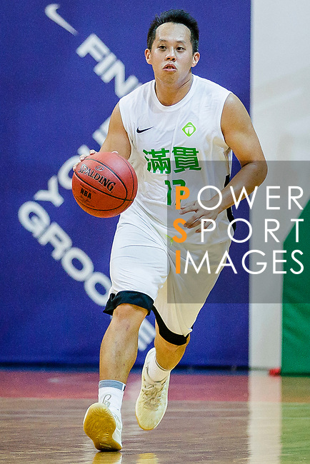 Chow Ka Kui #17 of Tycoon Basketball Team dribbles the ball up court during the Hong Kong Basketball League game between Tycoon vs Eagle at Southorn Stadium on May 11, 2018 in Hong Kong. Photo by Yu Chun Christopher Wong / Power Sport Images