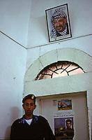 Old Gaza strip, sede dell'ANP a Ramallah (anni 90), soldato palestinese e foto di Arafat