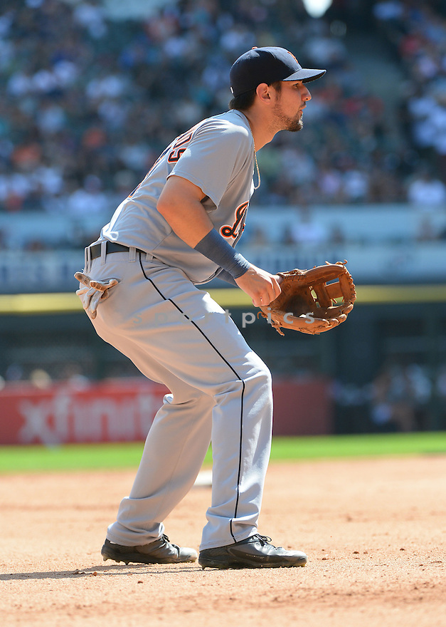 Detroit Tigers Nick Castellanos (9) during a game against the Chicago White Sox on August 31, 2014 at US Cellular Field in Chicago, IL. The Tigers beat the White Sox 8-4.