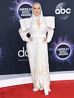 24 November 2019 - Los Angeles, California - Christina Aguilera. 2019 American Music Awards - Arrivals held at Microsoft Theater. Photo Credit: Birdie Thompson/AdMedia