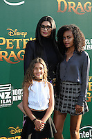 HOLLYWOOD, CA- AUGUST 8:  Rachel Roy, Ava Dash, Tallulah Ruth Dash at the Disney premiere of 'Pete's Dragon' at El Capitan Theater in Hollywood, California, on August 8, 2016. Credit: David Edwards/MediaPunch