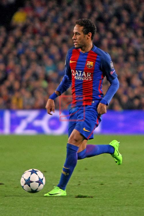 UEFA Champions League 2016/2017.<br /> Round of 16 2nd leg<br /> FC Barcelona vs Paris Saint-Germain: 6-1.<br /> Neymar Jr.