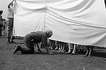 Village fete, Prettiest ankles competition, Marhamchurch Cornwall. England 1970<br />