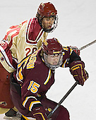 TJ Fast, Zac Pearson - The Ferris State Bulldogs defeated the University of Denver Pioneers 3-2 in the Denver Cup consolation game on Saturday, December 31, 2005, at Magness Arena in Denver, Colorado.