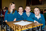 Pupils from Foilmore NS taking part in the Cahersiveen Credit Unions Schools Quiz on Sunday were l-r; Caití O'Sullivan, Hannah Sugrue, Jordan Kelly & Dylan O'Shea.
