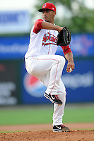 Lowell Spinners pitcher Francisco Tavaras #40 during a game versus the State College Spikes at LeLacheur Park in Lowell, Massachusetts on July 29, 2012.  (Ken Babbitt/Four Seam Images)