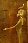Goddess; Selket; Tutankhamun; gold; canopic; shrine; Egypt; New Kingdom; Valley of the Kings; Egyptian Museum; Cairo, archaeology, artifact, statue, figure