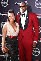 LOS ANGELES, CA - JULY 17: Savannah Brinson and LeBron James attend the ESPY Awards 2013 held at Nokia Theatre L.A. Live on July 17, 2013 in Los Angeles, California. (Photo by Celebrity Monitor)