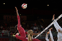 STANFORD, CA - September 9, 2018: Tami Alade at Maples Pavilion. The Stanford Cardinal defeated #1 ranked Minnesota 3-1 in the Big Ten / PAC-12 Challenge.