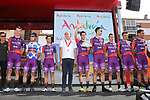 Burgos-BH leading team at sign on before Stage 6 of La Vuelta 2019 running 198.9km from Mora de Rubielos to Ares del Maestrat, Spain. 29th August 2019.<br /> Picture: Luis Angel Gomez/Photogomezsport | Cyclefile<br /> <br /> All photos usage must carry mandatory copyright credit (© Cyclefile | Luis Angel Gomez/Photogomezsport)