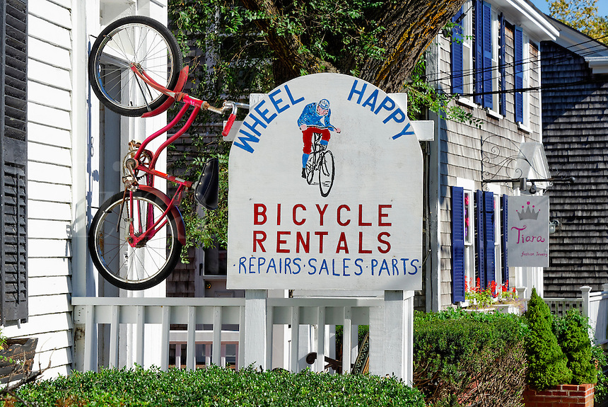 Bike rental shop, Edgartown, Martha's Vineyard, Massachusetts, USA