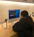 Apple Store, SOHO, Teenage Girl, Computer Display, New York, New York