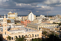 Aerial shot of downton Veracruz city, Mexico