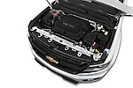 Car Stock 2015 Chevrolet Colorado Z71 Crew Cab 4 Door Pick Up Engine high angle detail view