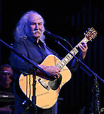David Crosby on acoustic guitar.  David Crosby, Graham Nash and very special guests at the Maui Arts &  Cultural Center.  A concert for Ruthie on August 29, 2013.