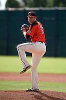 San Francisco Giants pitcher Matt Pope (57) during an instructional league game against the Colorado Rockies on October 7, 2015 at the Giants Baseball Complex in Scottsdale, Arizona.  (Mike Janes/Four Seam Images)