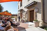 The new wing of Swan Hall, tour, dedication and ribbon cutting with alumni and donors.<br /> Photo from Occidental College Homecoming & Family Weekend, Saturday, Oct. 27, 2012.<br /> (Photo by Marc Campos, Occidental College Photographer)