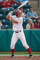 Max White (7) ready to bat during the NCAA matchup between the University of Arkansas-Little Rock Trojans and the University of Oklahoma Sooners at L. Dale Mitchell Park in Norman, Oklahoma; March 11th, 2011.  Oklahoma won 11-3.  Photo by William Purnell/Four Seam Images