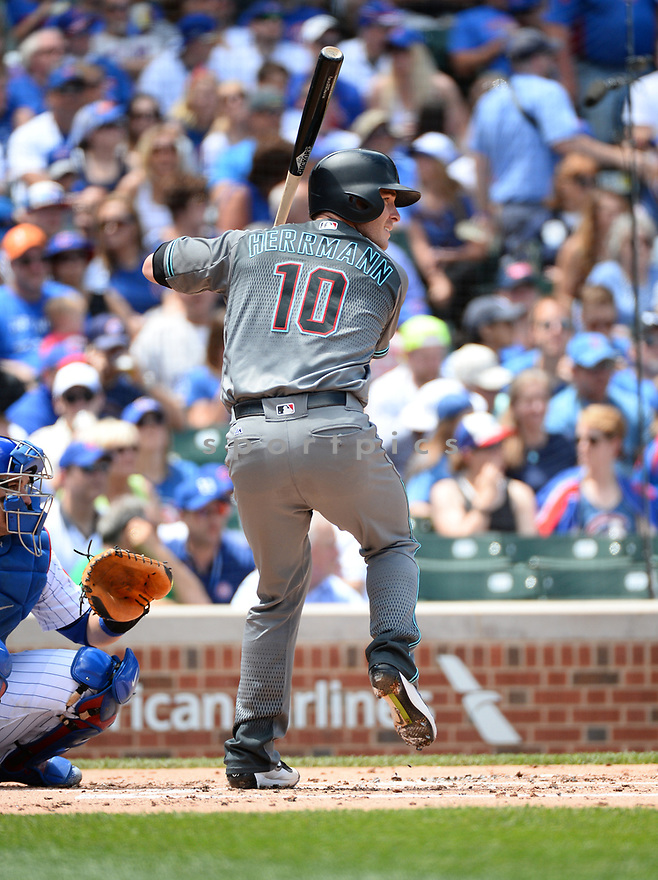 Arizona Diamondbacks Chris Herrmann (10) during a game against the Chicago Cubs on June 5, 2016 at Wrigley Field in Chicago, IL. The Diamondbacks beat the Cubs 3-2.