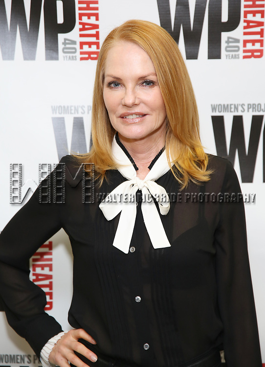 Marg Helgenberger attends the WP Theater production of 'What We're Up Against' Photo Calll at WP Theater Office on October 5, 2017 in New York City.