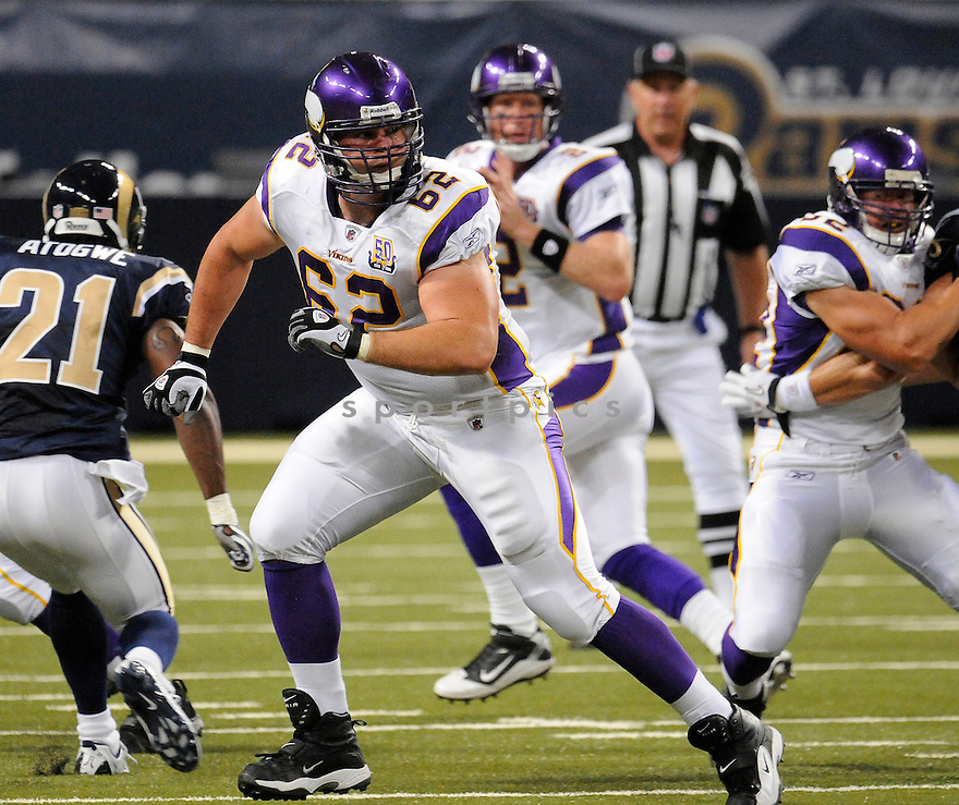RYAN COOK, of the Minnesota Vikings ,in action during the Vikings  game against the  St. Louis Rams at Edward Jones Dome in St. Louis Missouri on August14, 2010.  The Vikings won the game 28-17..
