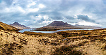 A view of Sgorr Tuath, with Loch Lurgainn in the foreground, and Cul Beag to the left.<br />