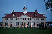 The Mansion at the Mount Vernon estate of first U.S. President George Washington stands during a dinner between U.S. President Donald Trump and Emmanuel Macron, France's president, not pictured, in Mount Vernon, Virginia, U.S., on Monday, April 23, 2018. As Macron arrives for the first state visit of Trump's presidency, the U.S. leader is threatening to upend the global trading system with tariffs on China, maybe Europe too. <br /> Credit: Andrew Harrer / Pool via CNP