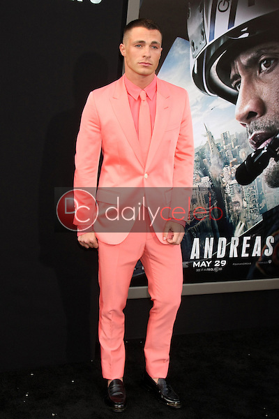 """Colton Haynes<br /> at the """"San Andreas"""" Los Angeles Premiere, TCL Chinese Theater, Hollywood, CA 05-26-15<br /> David Edwards/DailyCeleb.Com 818-249-4998"""