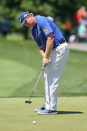 Bethesda, MD - June 25, 2016:  Ernie Els (RSA) attempts a putt during Round 3 of professional play at the Quicken Loans National Tournament at the Congressional Country Club in Bethesda, MD, June 25, 2016.  (Photo by Elliott Brown/Media Images International)