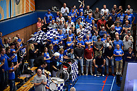 LEEUWARDEN - Basketbal, Donar - Estudiantes, Kalverdijkje, Champions League,  29-09-2017, Donar dans met trommels en vlaggen