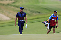 Rickie Fowler (USA) walks onto the 8th green during Saturday's Round 3 of the 117th U.S. Open Championship 2017 held at Erin Hills, Erin, Wisconsin, USA. 17th June 2017.<br /> Picture: Eoin Clarke | Golffile<br /> <br /> <br /> All photos usage must carry mandatory copyright credit (&copy; Golffile | Eoin Clarke)
