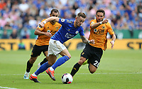 Leicester City's James Maddison and Wolverhampton Wanderers' Joao Moutinho <br /> <br /> <br /> <br /> Photographer Stephen White/CameraSport<br /> <br /> The Premier League - Leicester City v Wolverhampton Wanderers - Sunday 11th August 2019 - King Power Stadium - Leicester<br /> <br /> World Copyright © 2019 CameraSport. All rights reserved. 43 Linden Ave. Countesthorpe. Leicester. England. LE8 5PG - Tel: +44 (0) 116 277 4147 - admin@camerasport.com - www.camerasport.com