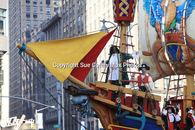 The View's Whoopi Goldberg on pirate float at the 86th Annual Macy's Thanksgiving Day Parade on November 22, 2012 in New York City, New York. (Photo by Sue Coflin/Max Photos)
