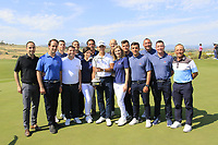 Joakim Lagergren (SWE) &amp; club staff at prize giving the final round of the Rocco Forte Sicilian Open played at Verdura Resort, Agrigento, Sicily, Italy 13/05/2018.<br /> Picture: Golffile | Phil Inglis<br /> <br /> <br /> All photo usage must carry mandatory copyright credit (&copy; Golffile | Phil Inglis)