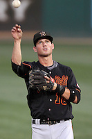 Bakersfield Blaze shortstop Devin Lohman #18 during a game against the Rancho Cucamonga Quakes at the Epicenter on August 24, 2011 in Rancho Cucamonga,California. Rancho Cucamonga defeated Bakersfield 12-10.(Larry Goren/Four Seam Images)