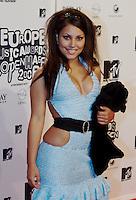 København, 20061102. MTV Europe Music Awards. Red Carpet. Mira Craig.
