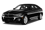 2017 BMW 3 Series 330i GT M Sport 5 Door Hatchback angular front stock photos of front three quarter view