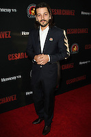 "HOLLYWOOD, LOS ANGELES, CA, USA - MARCH 20: Diego Luna at the Los Angeles Premiere Of Pantelion Films And Participant Media's ""Cesar Chavez"" held at TCL Chinese Theatre on March 20, 2014 in Hollywood, Los Angeles, California, United States. (Photo by Celebrity Monitor)"