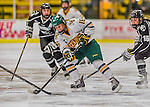 1 February 2015: University of Vermont Catamount Forward Bridget Baker, a Sophomore from Los Gatos, CA, in second period action against the visiting Providence College Friars at Gutterson Fieldhouse in Burlington, Vermont. The Lady Cats defeated the Friars 7-3 in Hockey East play. Mandatory Credit: Ed Wolfstein Photo *** RAW (NEF) Image File Available ***