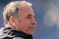 FOXBOROUGH, MA - MARCH 7: Bruce Arena coach of New England Revolution during a game between Chicago Fire and New England Revolution at Gillette Stadium on March 7, 2020 in Foxborough, Massachusetts.