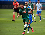 Emre Colak (RC Deportivo de la Coruna) controls the ball during La Liga Smartbank match round 39 between Malaga CF and RC Deportivo de la Coruna at La Rosaleda Stadium in Malaga, Spain, as the season resumed following a three-month absence due to the novel coronavirus COVID-19 pandemic. Jul 03, 2020. (ALTERPHOTOS/Manu R.B.)
